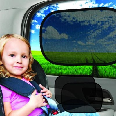 Car styling 2PC Kid Toddler Infant Baby Car Window Sunscreen Rear Window UV protection Eyes Visor Protection 50 X 30CM Sunscreen