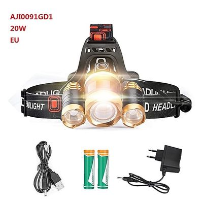 LED Headlamp Zoomable 10000Lm T6 Head Flashlight Torch Rechargeable Head Fishing Headlight 18650 Battery Car USB AC Charge BIL
