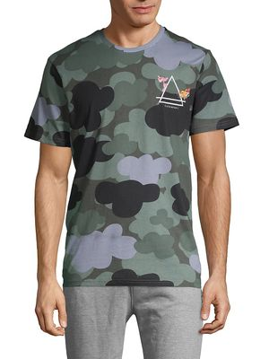 Eleven Paris Camo-Print Cotton Tee