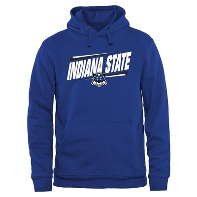 Indiana State Sycamores Double Bar Pullover Hoodie - Royal