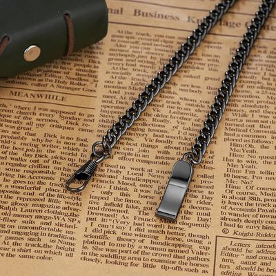 New 2019 stainless steel pocket watch chain watch accessory silver black bronze gold for gift