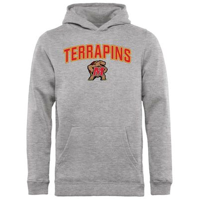 Maryland Terrapins Youth Proud Mascot Pullover Hoodie - Ash -