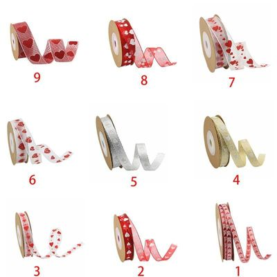 10m Love Heart Print Ribbon for Wedding Valentine DIY Craft Gift Wrapping Supply