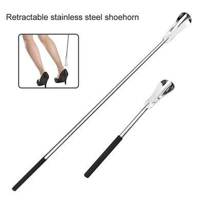 New Arrivals Flexible Stainless Steel Shoehorn Shoe Stick Lifter Spoon Wear shoe Tool with Long Handle