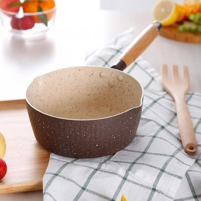 Household 18cm Stone Small Milk Pot Non-stick Cooking Pot for Gas Cookerand Induction Cooker