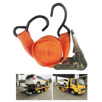 250cm 10000 lbs Car Strong Ratchet Tie Down Strap Luggage Bag Cargo Lashing Metal Buckle Light Duty Ratchet Tie Down Strap Hook