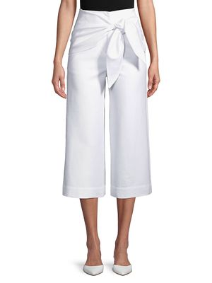 Tibi Compact Cotton Suiting Pants