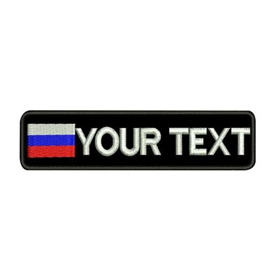 Custom RUSSIA name patches tags personalized iron on hook backing embroidered