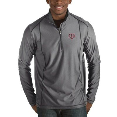 Texas A&M Aggies Antigua Tempo 1/2-Zip Desert Dry Pullover Jacket - Charcoal