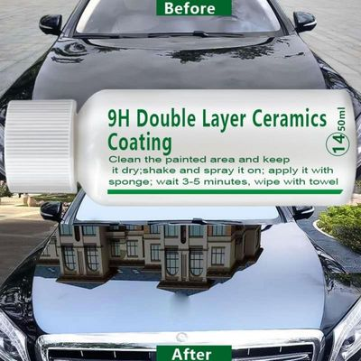 10ml/20ml/50ml 9H Double Layer Ceramics Nano Hydrophobic protection Coating Plating Crystal Auto Paint Care