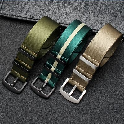 High Quality Nato Strap 20mm 22mm Nylon Seatbelt Watch Band For James Bond Military Watch Wristwatch Bands Replacement #C