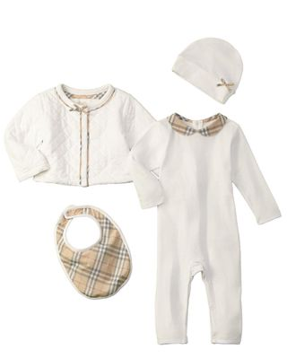 Burberry Kids' Check Branded 4 Pc Set