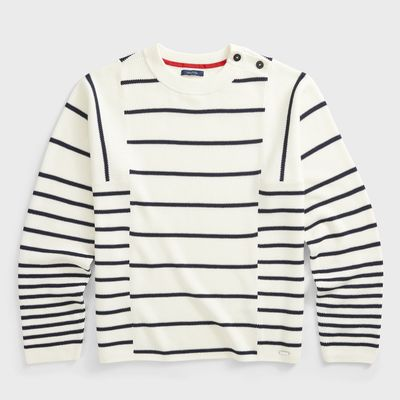 Nautica Sustainably Crafted Striped Knit Sweater