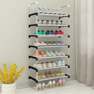 Simple Shoe Rack Easy Assembly Home Dorm Shoes Storage Rack Space Saving Removable Shoe Organizer Shelf Close to the door