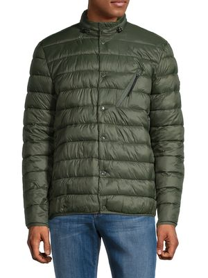Barbour Quilted Snap-Front Jacket