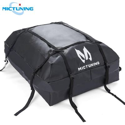 MICTUNING Car Top Carrier Rooftop Cargo Carrier Bag Heavy Duty Luggage Storage Bag 15-cubic ft Truck SUV Waterproof Roof Top Bag