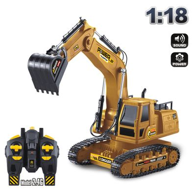Remote control engineering truck 6810L excavator 1: 18 ratio 10 channel 2.4g channel USB charging cable color box packaging