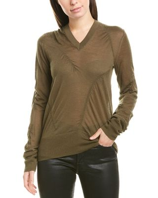 Helmut Lang V-Neck Cashmere-Blend Sweater