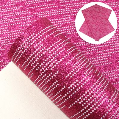 20*34cm Stripe Dots Fine Glitter Faux Leather Sheet For Making Home Textile Earring Bows,1Yc9201