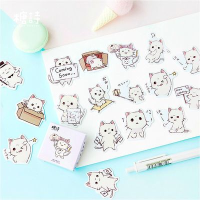Hot Sale 45pcs/set Japanese Cat Notebook Diary Drawing Painting Graffiti Soft Cover Paper Memo Pad Office School Supplies Gift