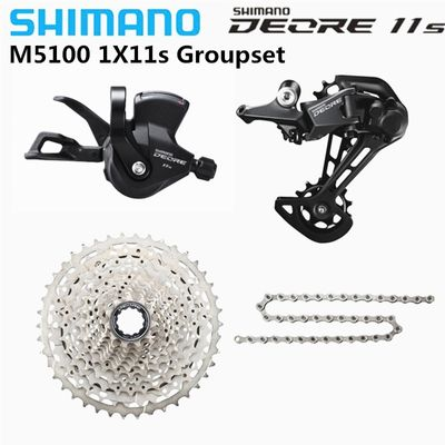 SHIMANO 2020 NEW DEORE  M5100 SX M7000 1x11 Speed Groupset MTB Mountain Bike Contains Shift Lever Rear Dearilleur Cassette Chain