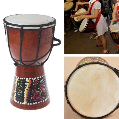 4 inch Professional African Djembe Drum Bongo Wood Good Sound Musical Instrument