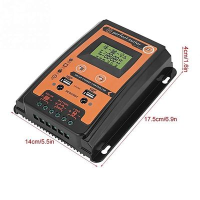 12V/24V 30A 50A 70A Solar Charge Controller Solar Panel Battery Regulator Dual USB LCD Display Tool With User Manual