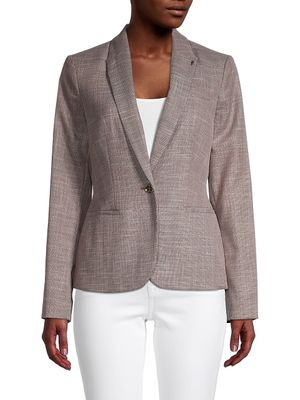 Tommy Hilfiger Textured Single-Button Blazer