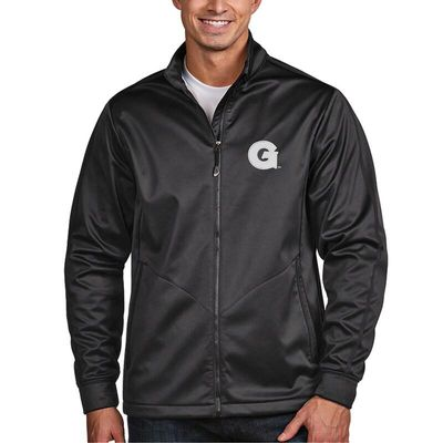 Georgetown Hoyas Antigua Golf Full-Zip Jacket - Charcoal