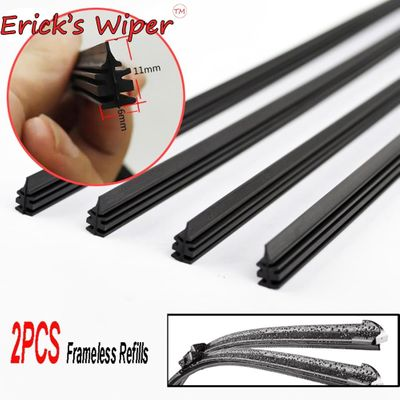 2Pcs/lot Universal AAA-Grade Auto Vehicle Insert Soft Rubber Strip Refill For Frameless Wiper Blades 6mm 26