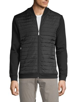 Perry Ellis Quilted Bomber Jacket