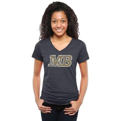 Cal State Monterey Bay Otters Women's Classic Primary Tri-Blend V-Neck T-Shirt - Navy