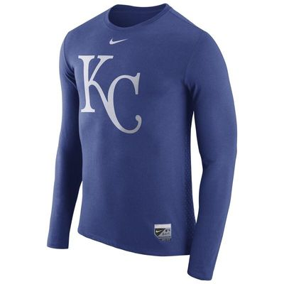 Kansas City Royals Nike Authentic Collection Blend Performance Long Sleeve T-Shirt - Royal