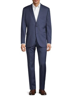 Saks Fifth Avenue Trim-Fit Textured Wool Suit
