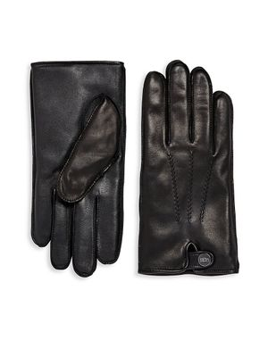 UGG Leather Faux Fur Lined Gloves