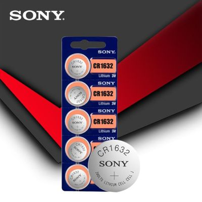 5pc/lot Sony Original 100% CR1632 Button Cell Battery For Watch Car Remote Key cr 1632 ECR1632 GPCR1632 3v Lithium Battery