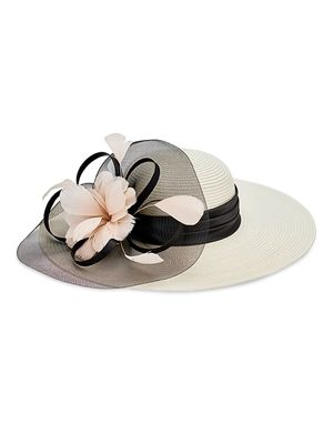 San Diego Hat Company Flower Tulle Dress Brim Hat