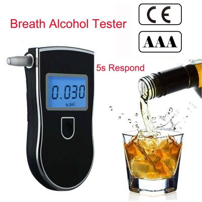 alkoholtester Breathalyzer Detector AT818 Portable Professional Alcohol Testers Police LCD Display Digital Breath Quick Response
