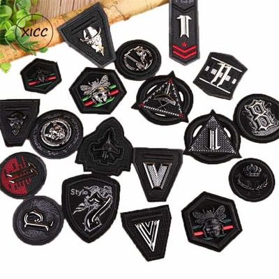 XICC New Metal Bands Punk Stripes Leather Embroidery Decoration 3D Skull Badge Jeans Custom Sticker for Clothing Garment Patches