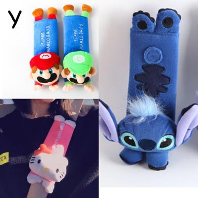 2019 Cute Cartoon Car Sefety Seat Belt cover cute Child isofix Seat belt Shoulder Pads Protection Plush Padding Auto Accessories