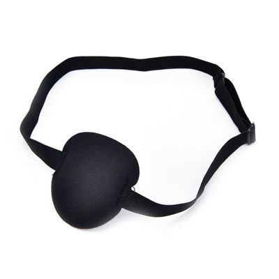 2018 1Pcs Black Medical Use Concave Eye Patch 3D Foam Groove Eyeshades For Lazy Eye Hot Sale