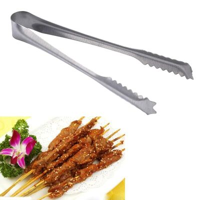 Stainless Steel BBQ Tongs Meat Food Clip Barbecue Tools Grill Baking Salad Steak Vegetable Pasta Kitchen Accessories