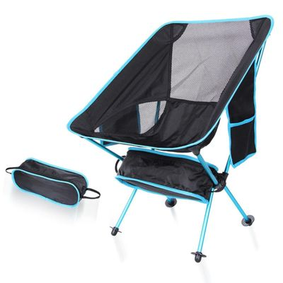 Portable Outdoor Collapsible Beach Chair Fishing Camping BBQ Folding Stool Hiking Seat Garden Ultralight Office Home Moon Chair