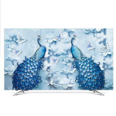 TV Cover Dust Cover LCD Computer Monitor Protector for Wall Hanging Desktop Curved Type Screen Soft Fabric Craft LP001