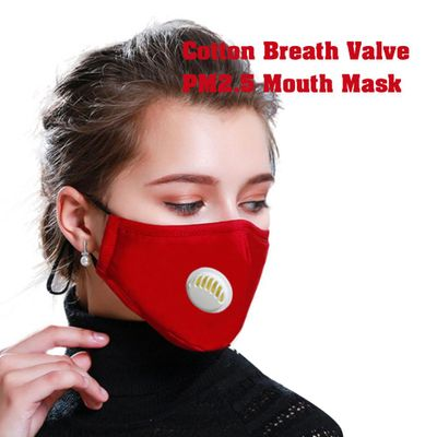 PM2.5 Anti Cotton Haze Mask Breath Valve Anti-dust Mouth Mask Activated Carbon Filter Respirator Mouth-muffle Mask Face
