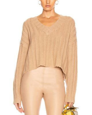 SABLYN Loose Cropped Cashmere Sweater