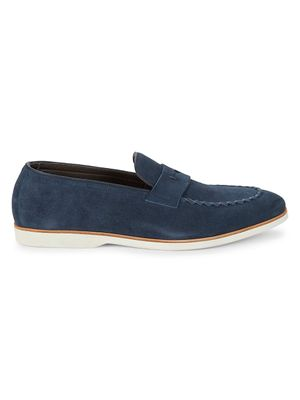 Canali Suede Penny Loafers