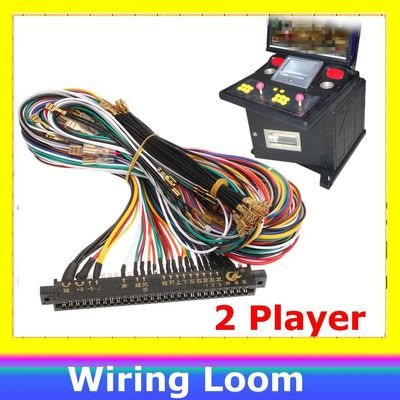 Jamma wire harness 56 pin Joystick button connector for arcade cabinet accessories games JAMMA Line Extension Line 2 Players