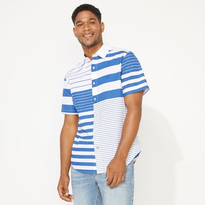Nautica Classic Fit Fashion Stripe Shirt