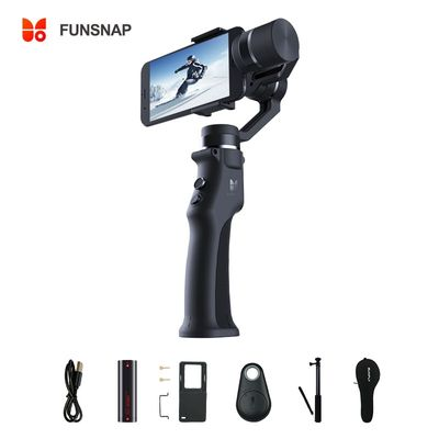Funsnap 3-Axis Stabilizer 3 Combo Handheld Smartphone Gimbal Stabilizer for iPhone GoPro 7 6 5 sjcam EKEN Yi Action camera